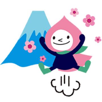 【無料】JRの山梨キャラクター「モモずきん」LINEスタンプ