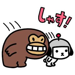 【無料】ヤフー・ジャパン「けんさく と えんじん」【LINEスタンプ】