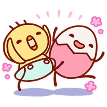 【無料】ベネッセ【たまひよ】たまちゃん・ひよちゃん【LINEスタンプ】