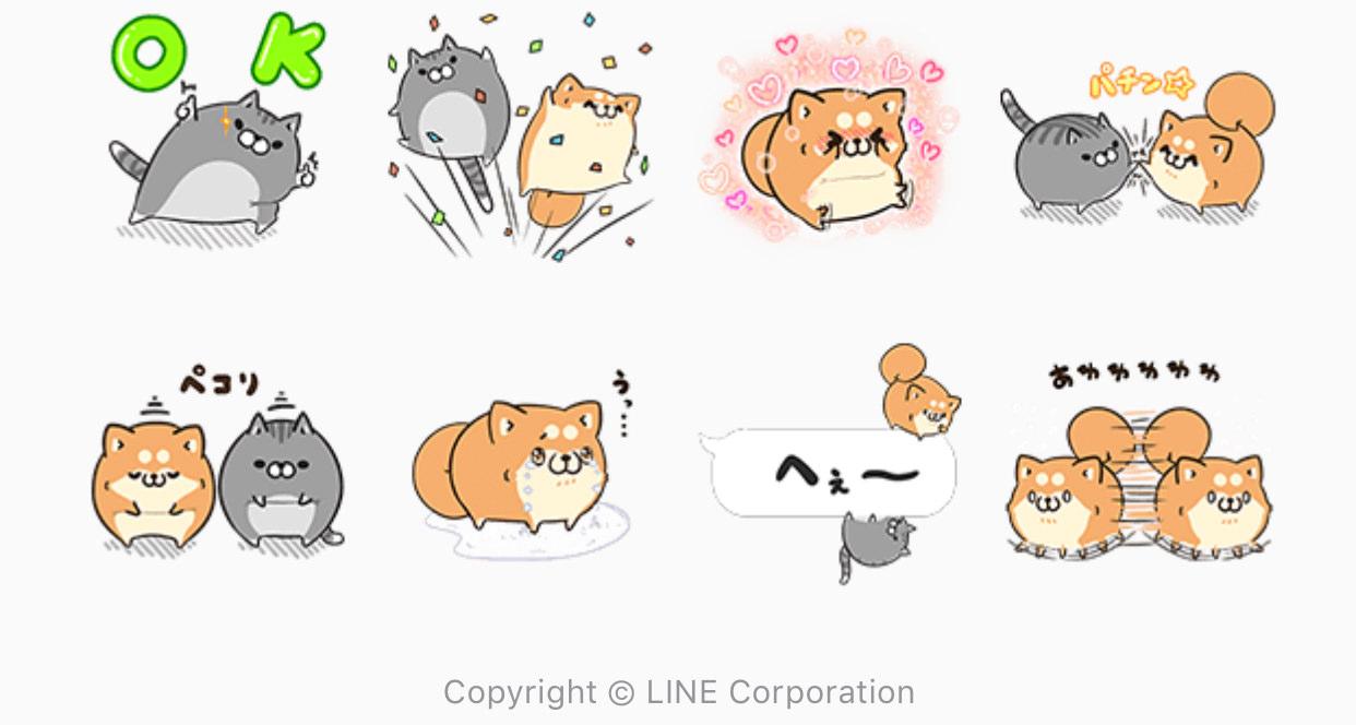 【無料】ボンレス犬猫 x 便利アカウント【LINEスタンプ】