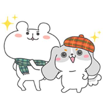【無料】ファッピー×ゆるくま★コラボスタンプ【LINEスタンプ】