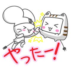 【無料】動く!マウスの「チュ丸」と「モニャー」【LINEスタンプ】