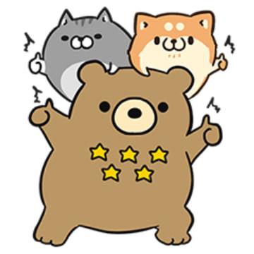 【無料】ボンレス犬・猫×エクスベア【LINEスタンプ】