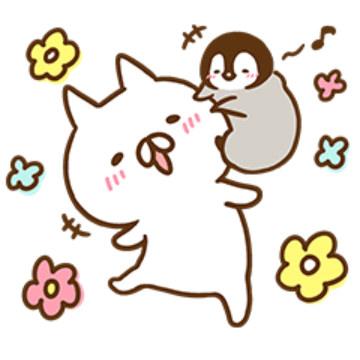 【無料】ねこぺん日和×マツキヨコラボスタンプ【LINEスタンプ】