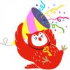 【無料】フクロウのヨヨキー3 by代ゼミ【LINEスタンプ】