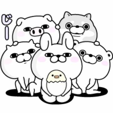【無料】うさぎ&くま100%と仲間たち【LINEスタンプ】