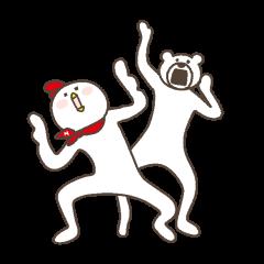 【無料】けたたましく動くクマ×ホンディー【LINEスタンプ】