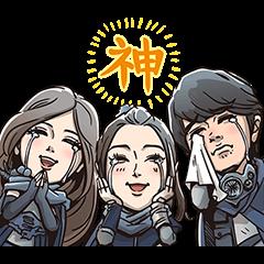 【無料】新CM「ギガ国」ボイス付きスタンプ【LINEスタンプ】
