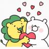 【無料】ガーリーくまさん×ライオンちゃん【LINEスタンプ】