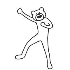 【無料】選べるニュース×けたたましく動くクマ【LINEスタンプ】