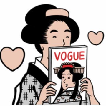 【無料】ヴォーグと山田全自動の浮世絵スタンプ【LINEスタンプ】