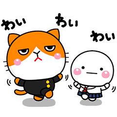 【無料】ふてニャン×しろまる【LINEスタンプ】