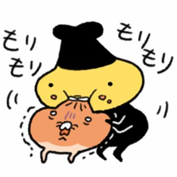 【無料】テンプラニンジャ&サムライ パンと一緒【LINEスタンプ】