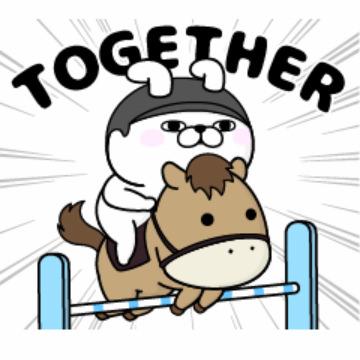 【無料】うさぎ100%×JRA 2020馬術【LINEスタンプ】