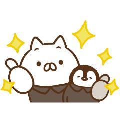 【無料】ねこぺん日和×ライザップ【LINEスタンプ】