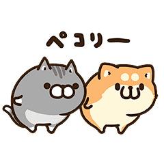 【無料】お試しボンレス犬とボンレス猫【LINEスタンプ】