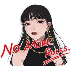 【無料】KATE NO MORE RULES.【LINEスタンプ】
