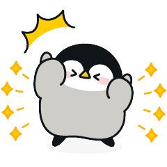 【無料】心くばりペンギン×プロたん&サリー【LINEスタンプ】