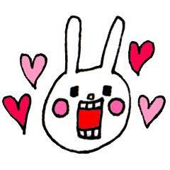 【無料】ウサギのウー×Qoo10限定セレクション【LINEスタンプ】