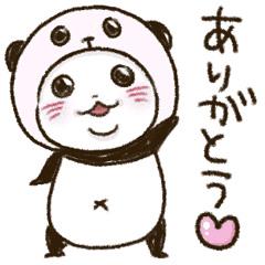 【無料】パンダinぱんだ×haruシャンプー【LINEスタンプ】