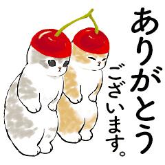 【無料】にゃんこスイーツ! × LINEバイト【LINEスタンプ】