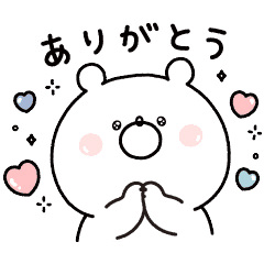 【無料】ガーリーくまさん×ソフトサンティア【LINEスタンプ】