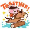 【無料】カナヘイの小動物×JRA 2020馬術【LINEスタンプ】