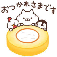 【無料】ねこぺん日和×ローソン【LINEスタンプ】
