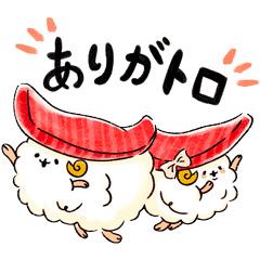 【無料】ゆるふわお届け!宅配寿司のすしーぷ3【LINEスタンプ】