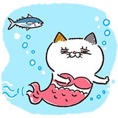 【無料】夏も元気に!タマ川ヨシ子(猫)第24弾【LINEスタンプ】