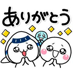 【無料】しろまる&ANAそらっち【LINEスタンプ】