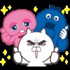 【無料】UQ×目ヂカラ☆にゃんこ【LINEスタンプ】