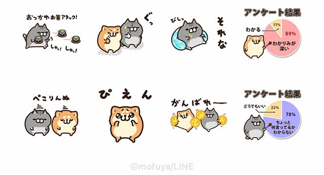 【無料】ボンレス犬と猫 | LINEアンケート【LINEスタンプ】