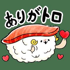 【無料】ゆるふわお届け!宅配寿司のすしーぷ4【LINEスタンプ】